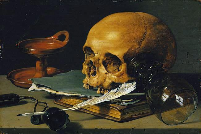 Pieter_Claeszoon_-_Still_Life_with_a_Skull_and_a_Writing_Quill