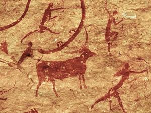 pre-historic art in the Algerian Desert